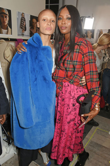 Adwoa aboah and naomi campbell at the burberry september 2017 show